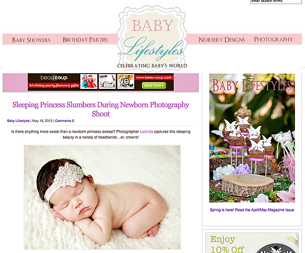 Baby Lifestyles Magazine, Portraits By Lucinda, newborn photographer, Kansas city