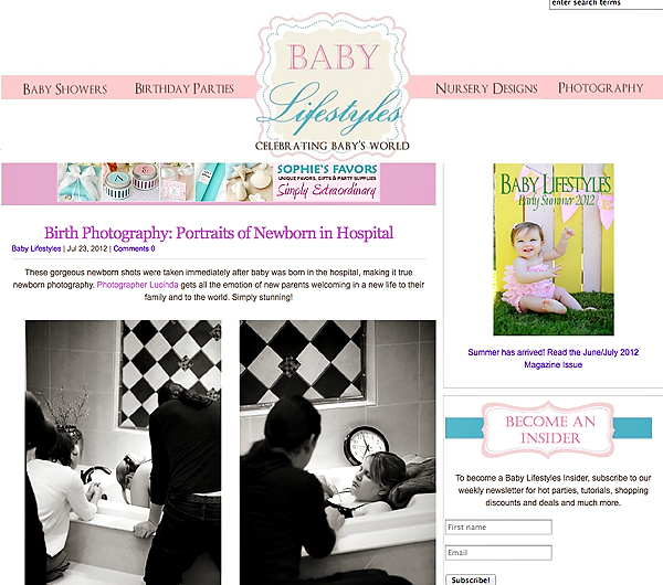 Baby Lifestyles Online Magazine, Portraits By Lucinda, birth photographer, newborn photographer, Kansas city, olathe, overland park, best newborn/birth photographer, award winning photographer